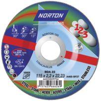 Norton Clipper - Disque de tronconnage Norton tout en un : couper surfacer polir Ø 115 pour meuleuse d'angle- 66252829704