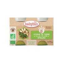 Babybio - Pots Pomme de terre Epinard dès 4 mois