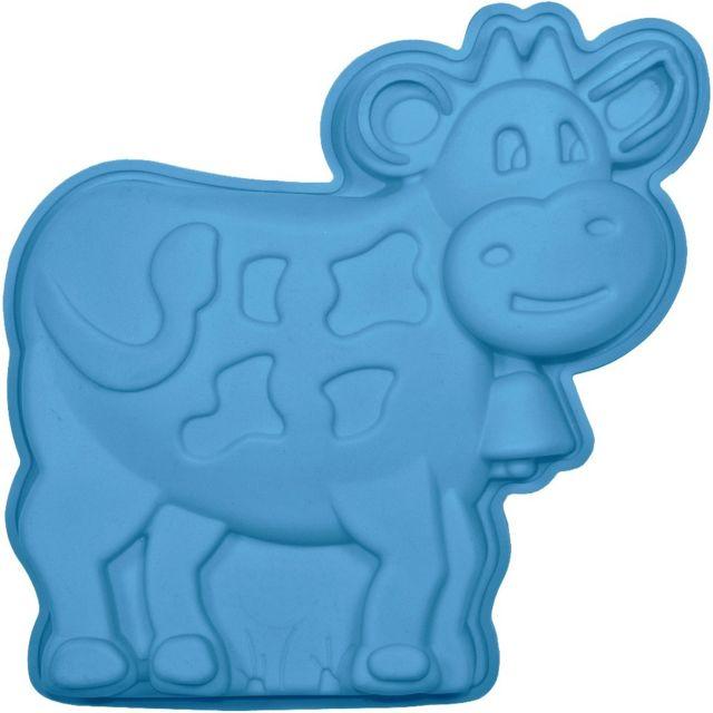 Promobo Moule à Gateau en silicone Vache Forme Ludique Animal Bleu