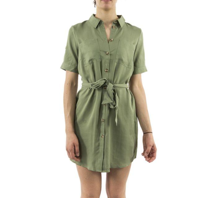 Vero Moda Robe Veromoda 10218714 Viola Vert Pas Cher Achat Vente Robes Rueducommerce