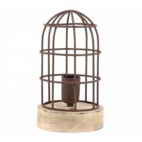 Cage Oiseau Rouille 14 Carandira Et 1 Luminaire Poser À Fer Patiné 5x25cm Eclairage Bois Façon Electrique Ampoule Lampe Déco XlOkTuwZPi