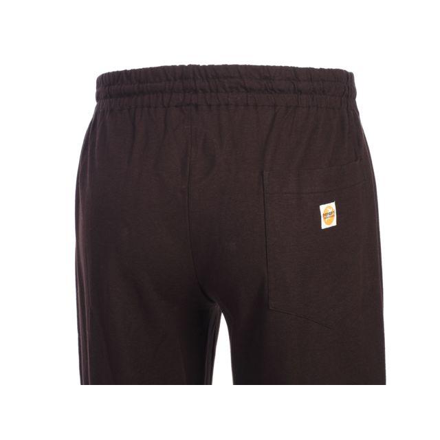 Panzeri - Pantalon de survêtement Uni h choco/blanc jersey Marron 60385