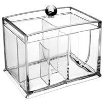 Bodybeauty - Boîte à Cosmétiques - 2 compartiments - Transparent
