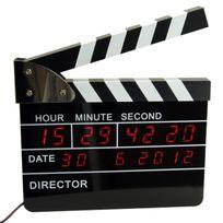 Totalcadeau - Réveil digital clap de cinéma réalisateur de film