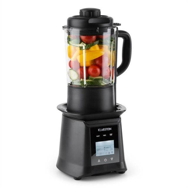 KLARSTEIN Herakles Heat Mixeur sur pied 1300W/900W 1,75l verre sans BPA - noir