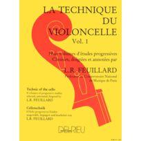 Edition Delrieu - Méthodes Et Pédagogie Feuillard Louis R Technique Du Violoncelle Vol.1 Violoncelle