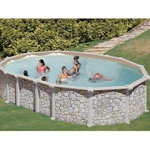 gr pools pool zen spa kit piscine hors sol acier gr dreampool mykonos ovale x x. Black Bedroom Furniture Sets. Home Design Ideas
