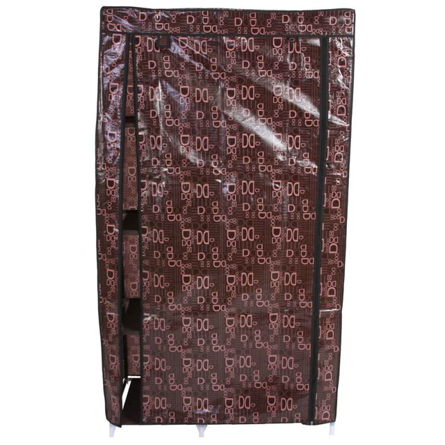 Mendler - Armoire pliable, penderie de camping, garde-robe en tissu, 163x89x43cm Marron - 89cm x 163cm x 89cm