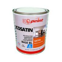 Icopeint - Peinture Satin Murale a l'eau Lessivable - Icosatin Acrylique - Blanc signalisation - Ral 9016 - 1L