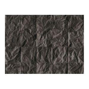 Declikdeco - Papier peint trompe l'oeil effet froissé noir