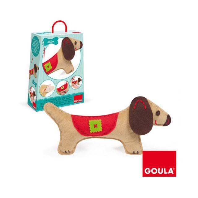 Goula Kit de couture : Couds ton chien Milo
