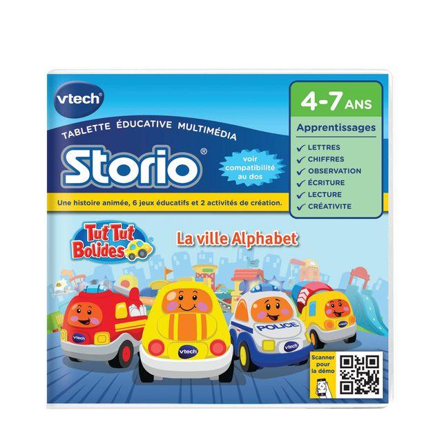 VTECH Jeu pour tablettes Storio : Tut Tut Bolides - La ville alphabet - 232505