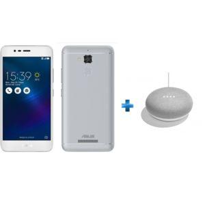 ASUS - Zenfone 3 Max - Argent + Enceinte intelligente - Google Home mini