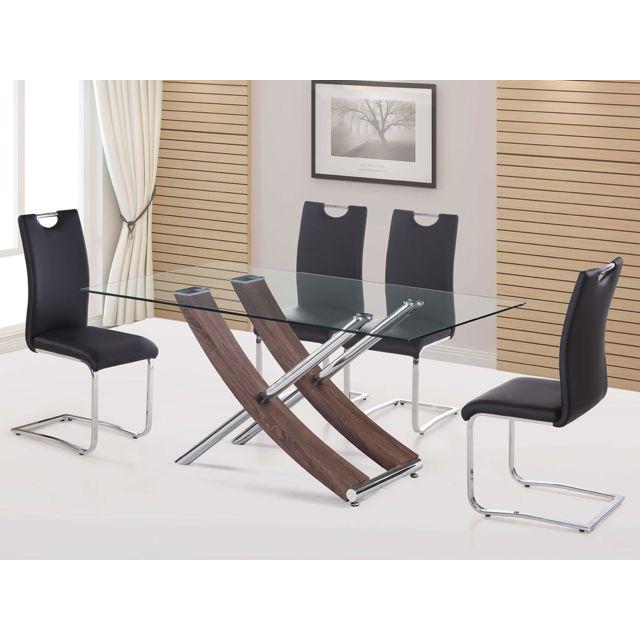 HABITAT ET JARDIN Table repas Diva - 160 x 90 x 76 cm - Chêne laqué