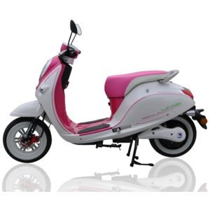 eurocka scooter lectrique 50cc cka green rose blanc achat vente scooters 50 pas cher. Black Bedroom Furniture Sets. Home Design Ideas