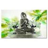 Declina - Tableau toile ambiance zen d?co bouddha et fleurs sur