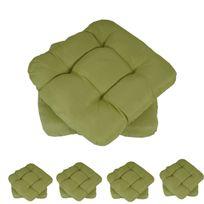 Mendler - 10x coussin Dublin, coussins de chaise, 43x41x3cm ~ vert clair