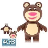 Wewoo - Clé Usb pour toutes sortes de cadeaux de fête 4 Go Disque Flash Silicone Usb en forme d'ours brun, spécial