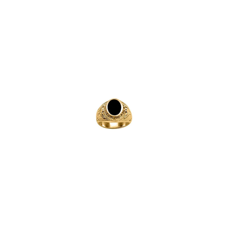 SOCHICBIJOUX- So Chic Bijoux © Chevalière Bague Anneau Us Army Ovale Onyx  Noir Vermeil Or 85644fb9b8e5