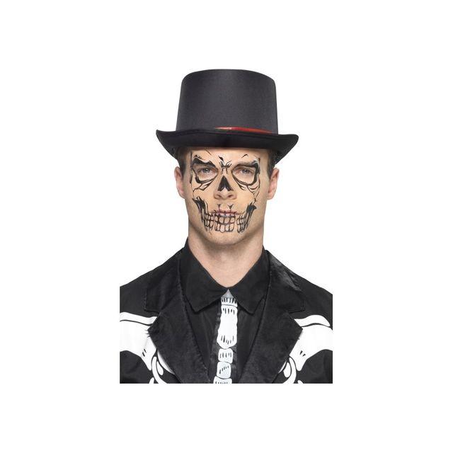 Marque Generique Tatouage Visage De Squelette Ephemere Pas Cher