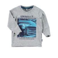 Name It - T-shirt manches longues nikhil grey melange Couleur Gris Taille 2/3 ans