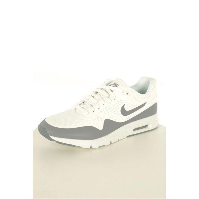 low priced 57421 0f3d8 Nike - Chaussures Femme Wmns Air Max 1 Ultra Moire 704995 Blanc, Gris - 38  - pas cher Achat  Vente Baskets femme - RueDuCommerce