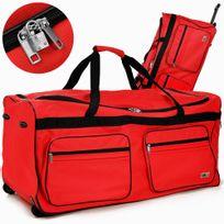 Rocambolesk - Superbe Sac de voyage 160l rouge trolley sac bag valise sac de sport valise de voyage case neuf