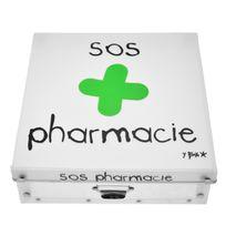 Incidence - Boite de rangement déco en plastique grand modele - Sos Pharmacie