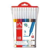 Caran d'Ache - Fancolor Fiber-tipped Pen Kit 10 Colors, Toy
