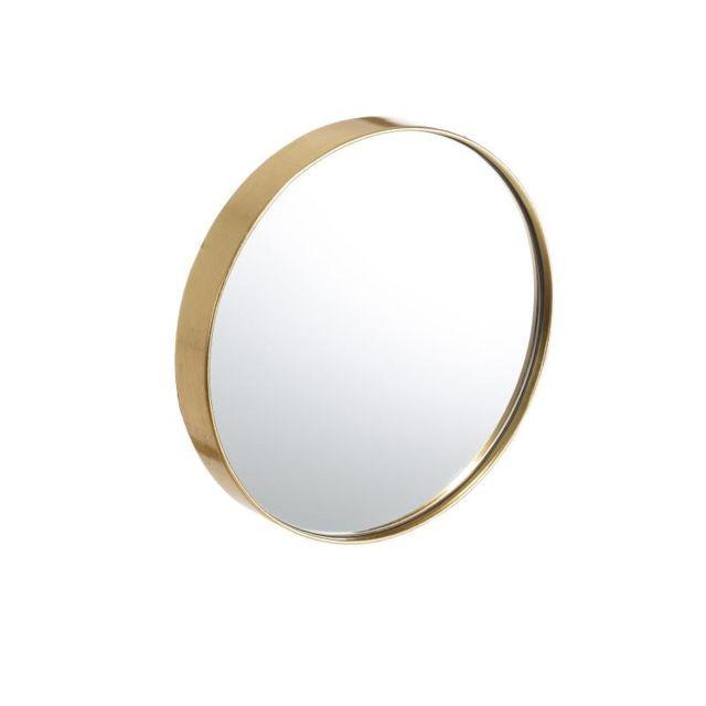 Tousmesmeubles Miroir rond Bois doré taille S N°2 - Bebop