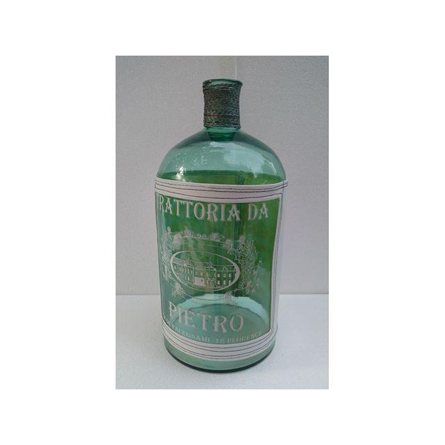 Santiago Pons Vase bouteille bleue