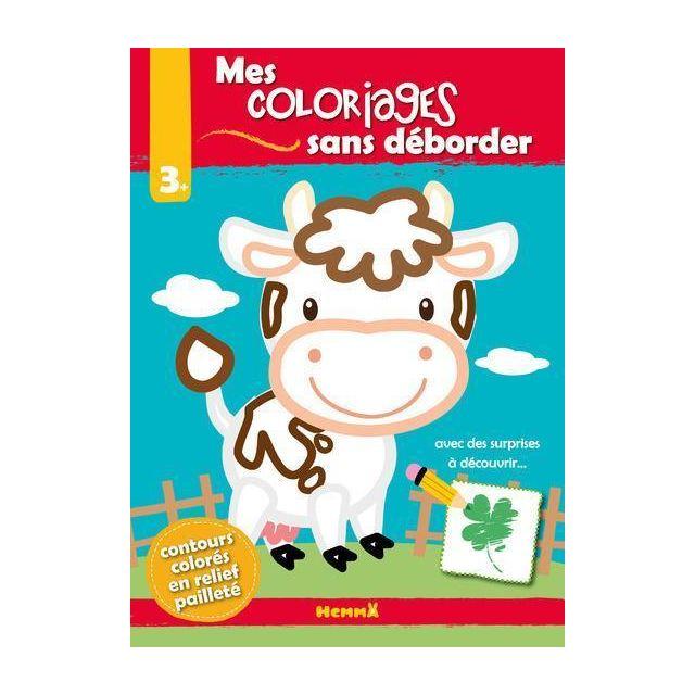 Hemma Je Colorie Sans Deborder Vache 3 Ans Et Plus Pas