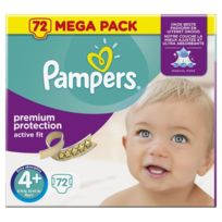Pampers - Active Fit Taille 4+ 9 a 20 kg 72 couches