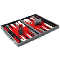 Philos - Backgammon feutrine rouge 38 cm