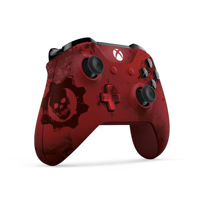 Microsoft manette sans fil xbox gears of war 4 crimson for Manette xbox 360 pas cher sans fil