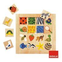 Goula - 53019 - Jouet En Bois - Eveil - Puzzle - Textures