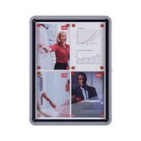 Nobo - Vitrine d'affichage à surface en métal - pour l'extérieur - 4 x A4