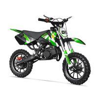 Pocket Cross Rx 49 - Mini Moto Enfant 50cc - Rockstar - Vert