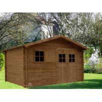 Madeira - Abri de jardin bois emboit 3.80x3.00 11,4m ep 28mm