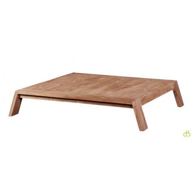 Dbodhi Table basse teck 100 trapezium
