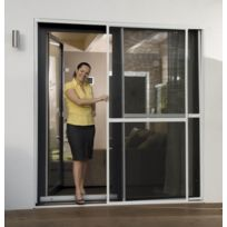 Empasa - Moustiquaire Coulissante Porte et Baie-vitrée - Alu Blanc L230 x H240 cm à découper soi-même