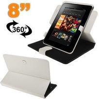 Yonis - Protection tablette housse universelle 8 pouces 360° étui blanc