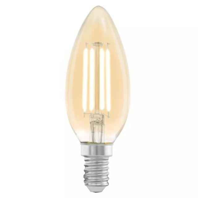 eglo ampoule led style vintage e14 c37 amber 11557 pas cher achat vente lampadaires. Black Bedroom Furniture Sets. Home Design Ideas
