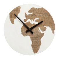 Karedesign - Horloge murale Antique Continent blanc 36cm Kare Design