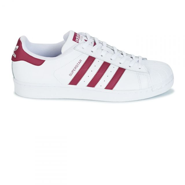 Adidas originals - Chaussures Superstar Blanc/Bordeaux W