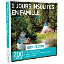 Smartbox - 2 jours insolites en famille - 200 séjours partout en France ou en Europe : yourtes, roulottes, tipis, cabanes et maisons dhôtes - Coffret Cadeau
