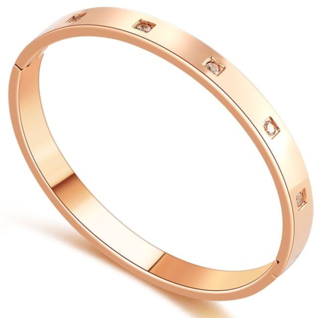Wewoo - Bracelet Mode Personnalité Femmes Bijoux Amour Diamant Couple Haut  de gamme Titanium Acier Bracelet 4957e49e9c5
