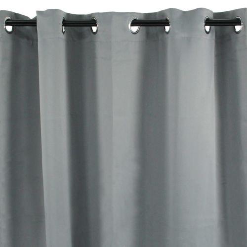 Mon Beau Tapis - Rideau à oeillets gris clair 140x250cm Occultant ...