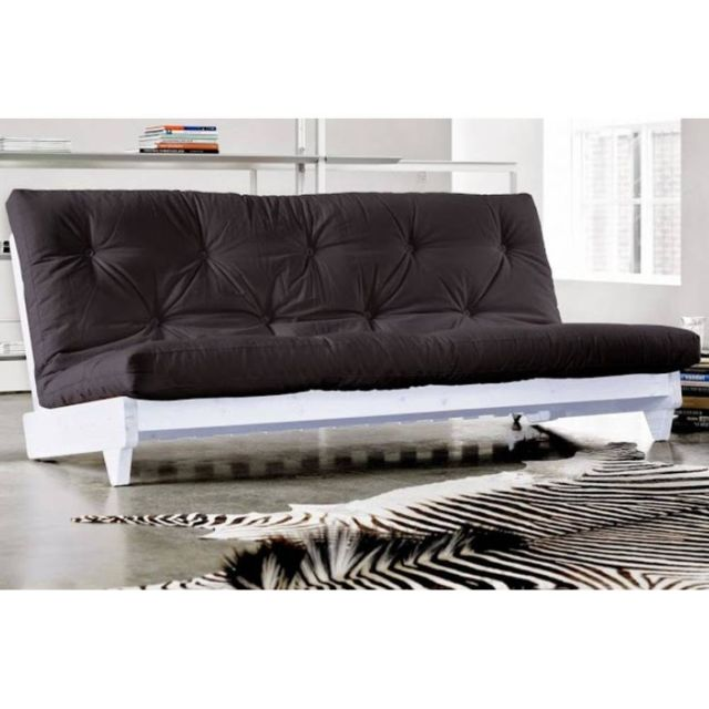 inside 75 banquette lit blanc futon noir fresh grey graphite 3 places convertible couchage 140. Black Bedroom Furniture Sets. Home Design Ideas