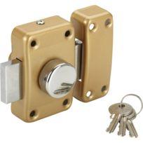Carmine - Verrou de surete a bouton pour porte entree Cylindre 45 mm gache reversible gauche droite